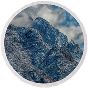 Sandia Mountains 2 Round Beach Towel