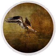 Sandpiper Piping Round Beach Towel
