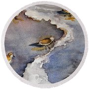 Sandpiper Seashore Round Beach Towel