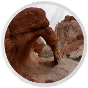 Sandstone Arches Valley Of Fire Round Beach Towel