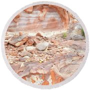 Sandstone Colors In Wash 3 - Valley Of Fire Round Beach Towel