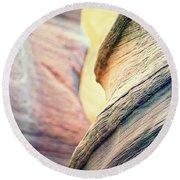 Sandstone Curve. Round Beach Towel