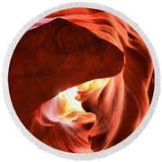 Sandstone Dog Abstract Round Beach Towel
