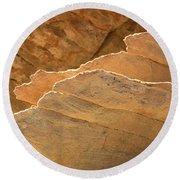 Sandstone Fins Round Beach Towel