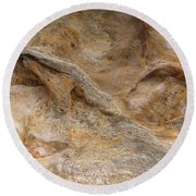Sandstone Formation Number 4 At Starved Rock State Round Beach Towel