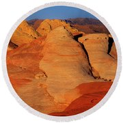 Sandstone Formations In Valley Of Fire State Park Nevada Round Beach Towel by Dave Welling