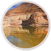 Sandstone Illusions Round Beach Towel