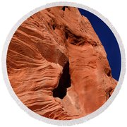 Sandstone Moon Round Beach Towel