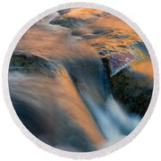 Sandstone Reflections Round Beach Towel by Mike  Dawson