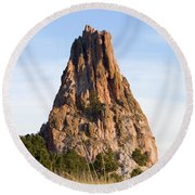 Sandstone Spires In Garden Of The Gods Round Beach Towel