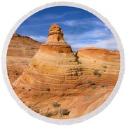 Sandstone Tent Rock Round Beach Towel