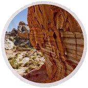 Sandstone Texture Round Beach Towel