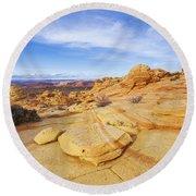 Sandstone Wonders Round Beach Towel by Chad Dutson