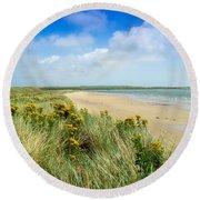 Sandunes At Fethard, Co Wexford, Ireland Round Beach Towel