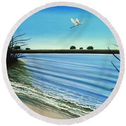 Sandy Beach Round Beach Towel