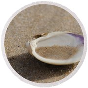 Sandy Dish Round Beach Towel