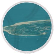 Sandy Hook New Jersey Aerial Photo Round Beach Towel