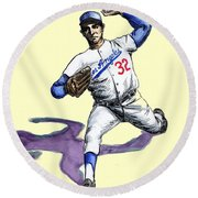 Sandy Koufax Round Beach Towel