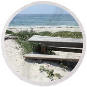 Sandy Picnic Table Round Beach Towel