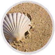 Sandy Shell Round Beach Towel by Jorgo Photography - Wall Art Gallery