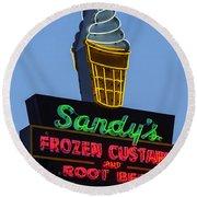 Sandys Frozen Custard - Austin Round Beach Towel