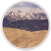 Sangre De Cristo Mountains And The Great Sand Dunes Round Beach Towel