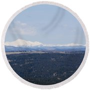 Sangre De Cristo Mountains From Bald Mountain Colorado Round Beach Towel