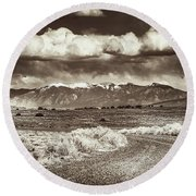 Sangre De Cristo Mountains Round Beach Towel