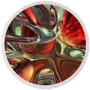Sanguine Abstract Round Beach Towel