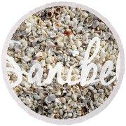 Sanibel Island Seashells Round Beach Towel