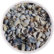 Sanibel Island Seashells I Round Beach Towel
