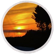 Sanibel Island Sunset Two Round Beach Towel