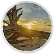 Sanibel Sunrise Round Beach Towel