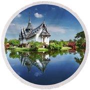 Sanphet Prasat Palace, Thailand Round Beach Towel