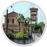 Sant Anselmo Church Round Beach Towel