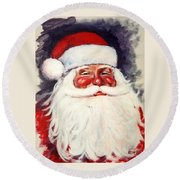 Santa 1 Round Beach Towel