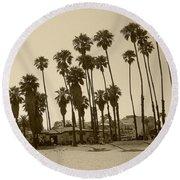 Santa Barbara Palms Round Beach Towel