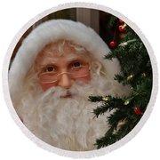 Santa Claus Round Beach Towel