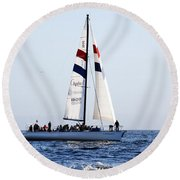 Santa Cruz Sailing Round Beach Towel