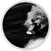Santa Cruz Surfer Dude Round Beach Towel