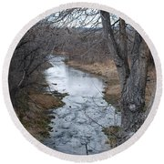 Santa Fe River Round Beach Towel