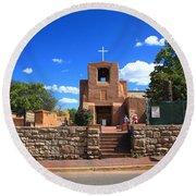 Santa Fe - San Miguel Chapel 6 Round Beach Towel