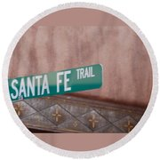 Santa Fe Trail Round Beach Towel