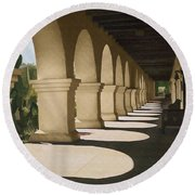 Santa Inez Arches Round Beach Towel