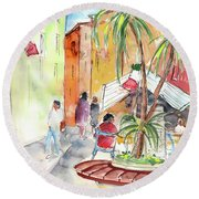Santa Margherita In Italy 05 Round Beach Towel