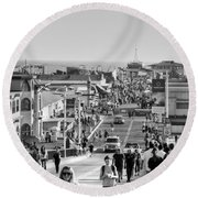 Santa Monica Pier Round Beach Towel