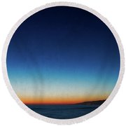 Santa Monica Sunset 1 Round Beach Towel