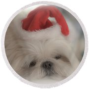 Santa's Sweetie Round Beach Towel