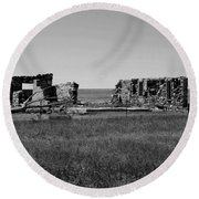 Sante Fe Trail Ghost Round Beach Towel