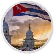 Santiago De Cuba Dusk Round Beach Towel